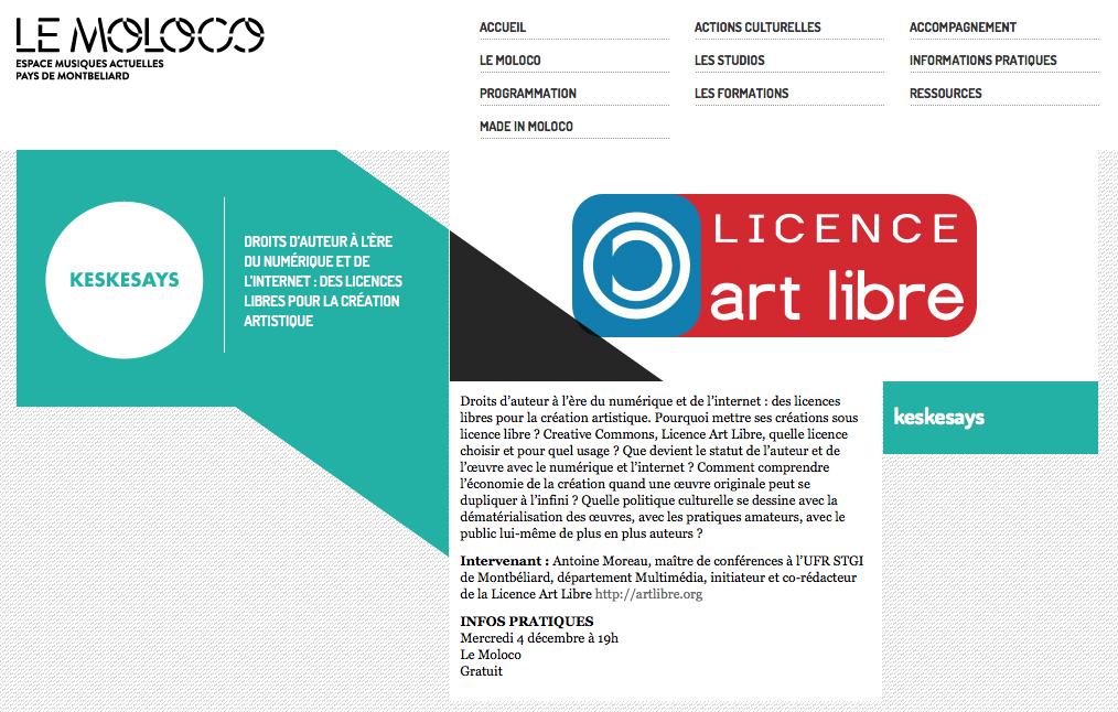 Le Moloco / Les licences libres / Art Libre